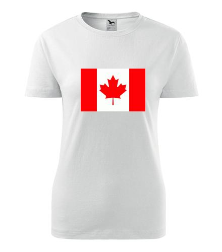 Dámské tričko s kanadskou vlajkou