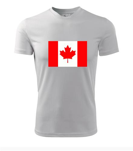 Tričko s kanadskou vlajkou - Trička s vlajkou pánská