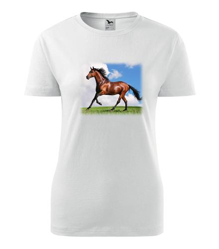 Tričko s koněm dámské - Dárky pro koňačky