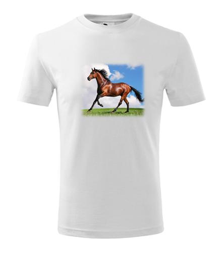 Tričko s koněm dětské