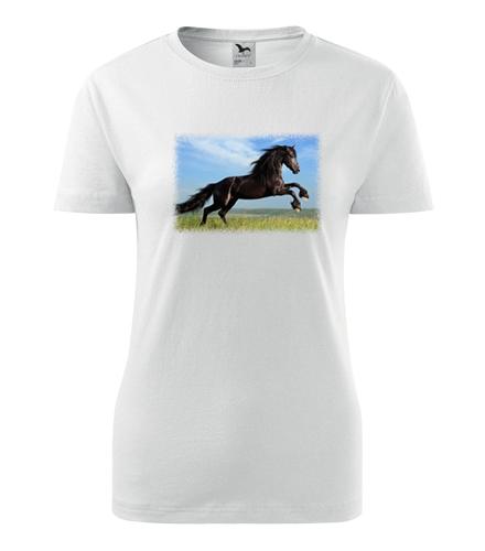 Dámské tričko s koněm 2 - Dárky pro koňačky