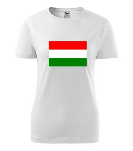 Dámské tričko s maďarskou vlajkou - Trička s vlajkou dámská