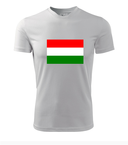 Tričko s maďarskou vlajkou - Trička s vlajkou pánská
