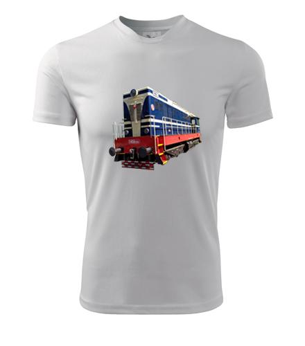 Tričko s motorovou lokomotivou t458 - Dárek pro železničáře