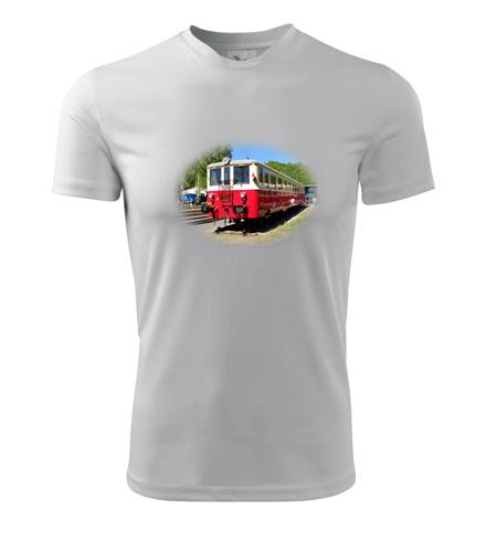 Tričko s motorovým vozem 830 - Dárek pro železničáře