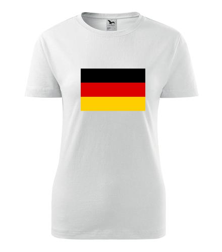 Dámské tričko s německou vlajkou - Trička s vlajkou dámská
