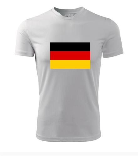 Tričko s německou vlajkou - Trička s vlajkou pánská