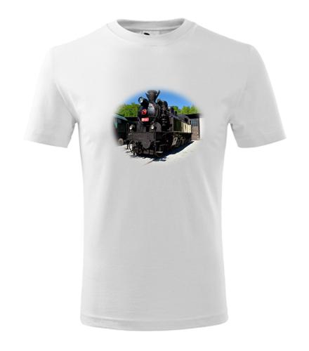 Dětské tričko s parní mašinkou 354 - Dětská narozeninová trička