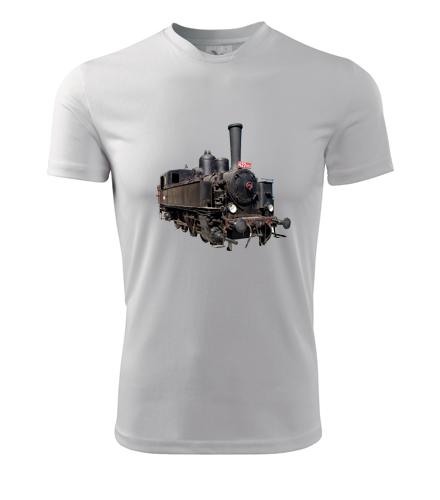 Tričko s parní lokomotivou 422 - Dárek pro strojvůdce