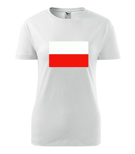 Dámské tričko s polskou vlajkou - Trička s vlajkou dámská