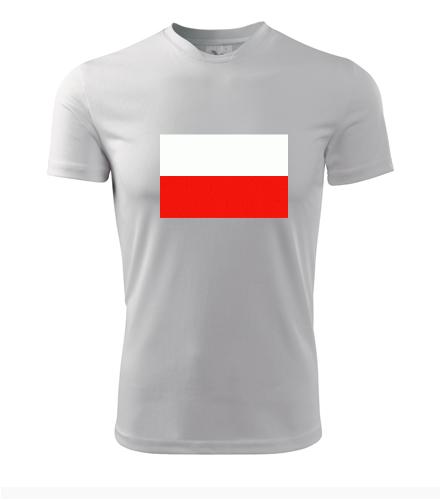 Tričko s polskou vlajkou - Trička s vlajkou pánská