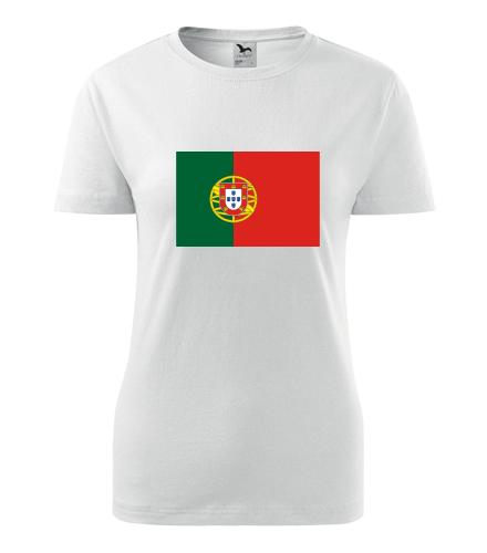 Dámské tričko s portugalskou vlajkou - Trička s vlajkou dámská