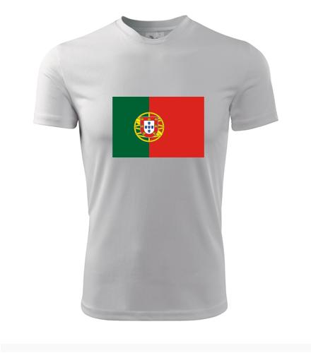 Tričko s portugalskou vlajkou - Trička s vlajkou pánská
