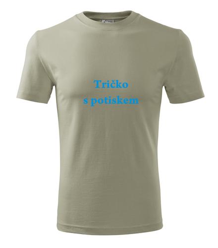 Tričko s vlastní fotkou Tričko s potiskem světlá khaki