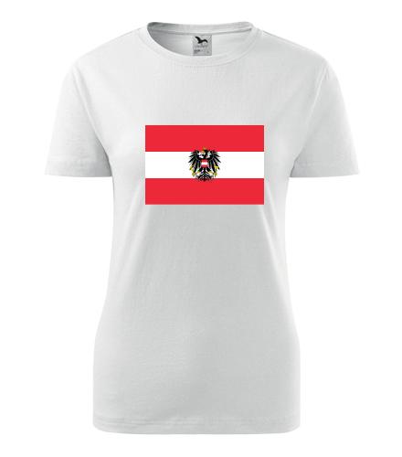 Dámské tričko s rakouskou vlajkou - Trička s vlajkou dámská