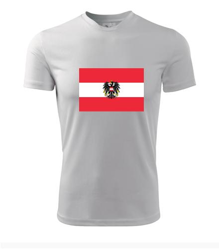 Tričko s rakouskou vlajkou - Trička s vlajkou pánská