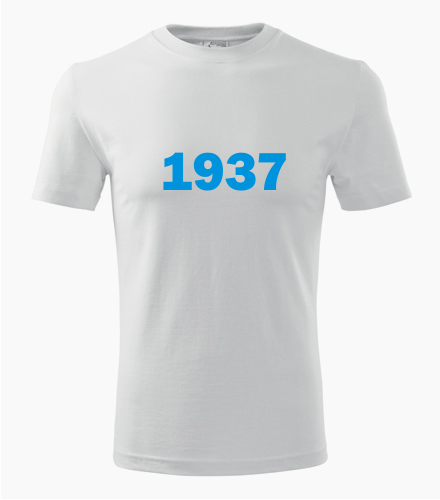 Narozeninové tričko s ročníkem 1937 - Trička s rokem narození