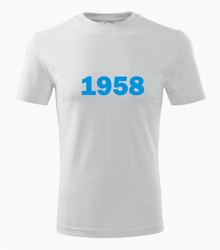 Narozeninové tričko s ročníkem 1958