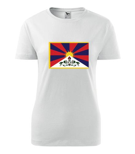 Dámské tričko s tibetskou vlajkou - Trička s vlajkou dámská