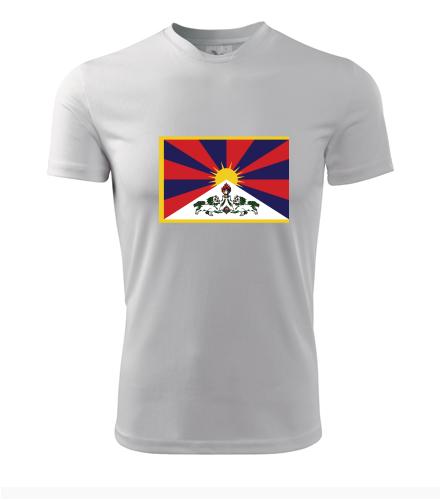 Tričko s tibetskou vlajkou - Trička s vlajkou pánská