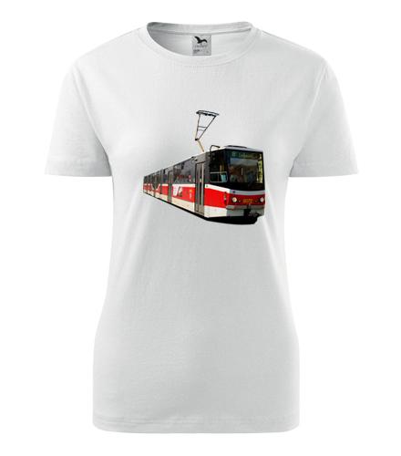 Tričko s tramvají KT8D5 dámské - Dárek pro řidičku tramvaje