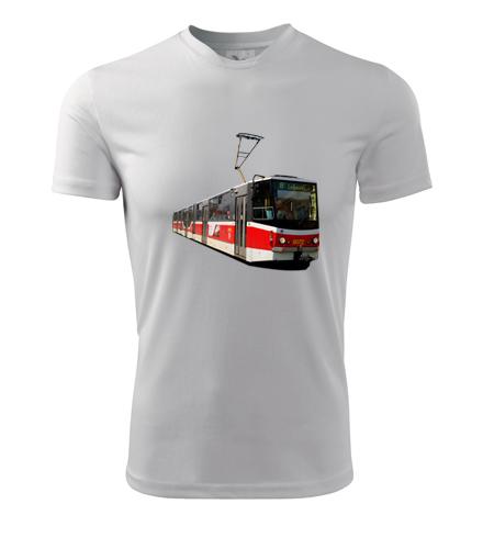 Tričko s tramvají KT8D5 - Dárek pro řidiče tramvaje