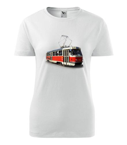 Tričko s tramvají T3 dámské - Dárek pro řidičku tramvaje