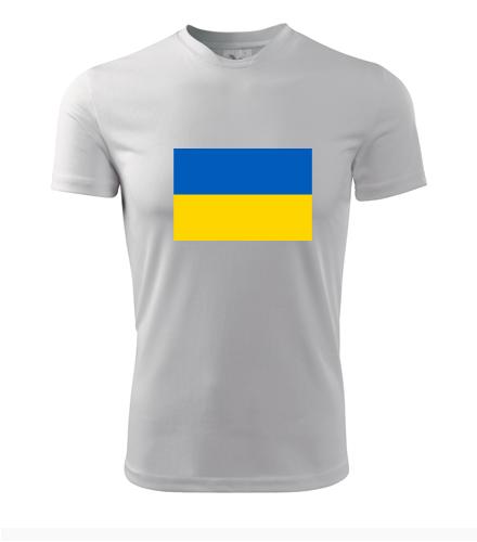 Tričko s ukrajinskou vlajkou - Trička s vlajkou pánská