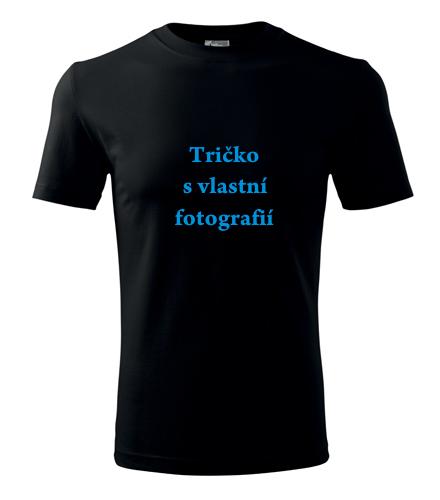 Levná trička s vlastním potiskem Tričko s vlastní fotografií černá