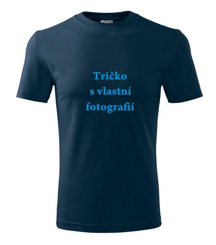 Trička s vlastním potiskem levně Tričko s vlastní fotografií námořní modrá