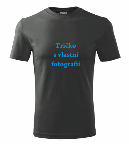 Levné trička s vlastním potiskem Tričko s vlastní fotografií tmavá břidlice