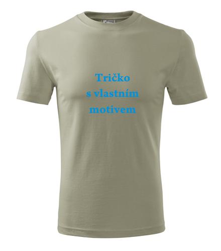Tričko s vlastním potiskem praha Tričko s vlastním motivem světlá khaki