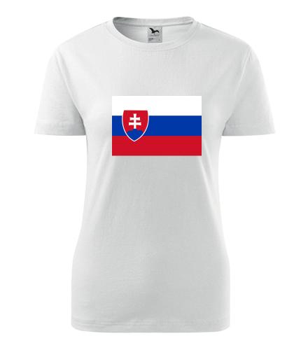 Dámské tričko se slovenskou vlajkou - Trička s vlajkou dámská