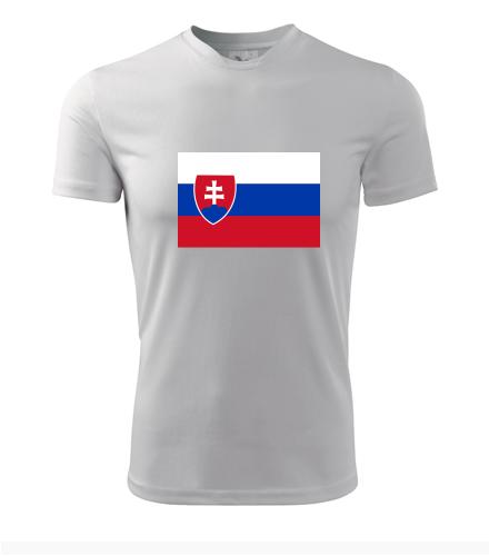 Tričko se slovenskou vlajkou - Trička s vlajkou pánská