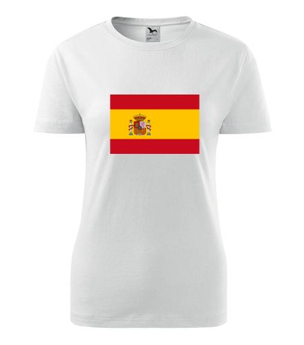 Dámské tričko se španělskou vlajkou - Trička s vlajkou dámská