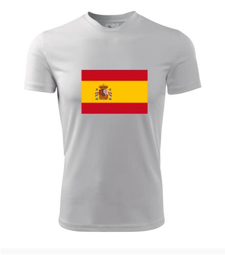Tričko se španělskou vlajkou - Trička s vlajkou pánská