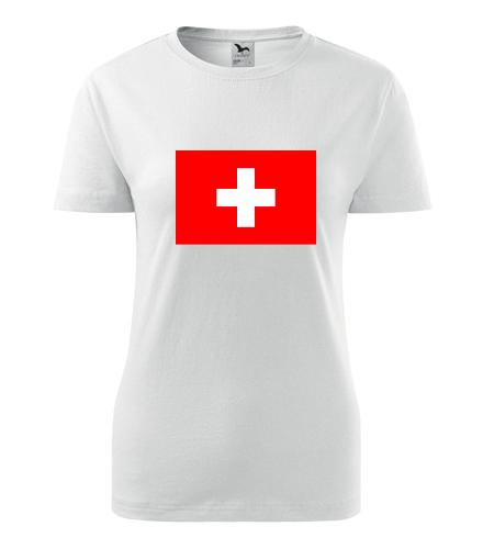Dámské tričko se švýcarskou vlajkou - Trička s vlajkou dámská
