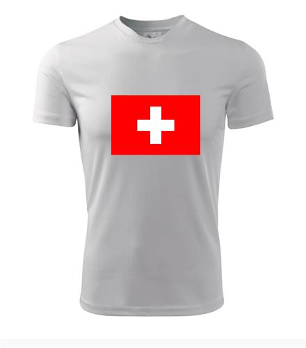 Tričko se švýcarskou vlajkou - Trička s vlajkou pánská