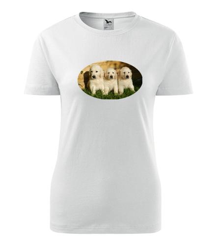 Dámské tričko se štěňátky - Dárky pro chovatelky psů