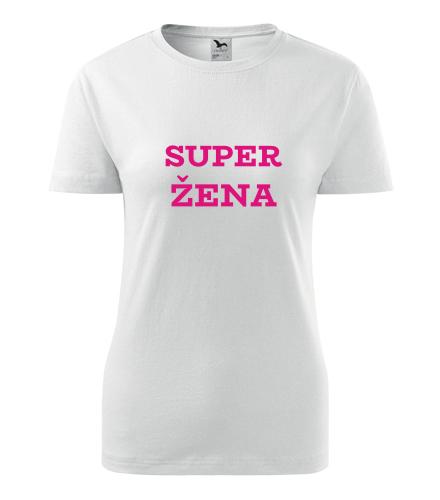 Dámské tričko Superžena - Dárek pro baristku