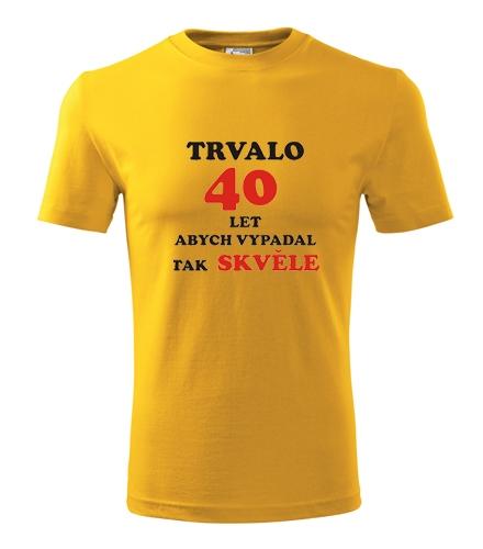 originální dárky pro muže Tričko trvalo 40 let žlutá
