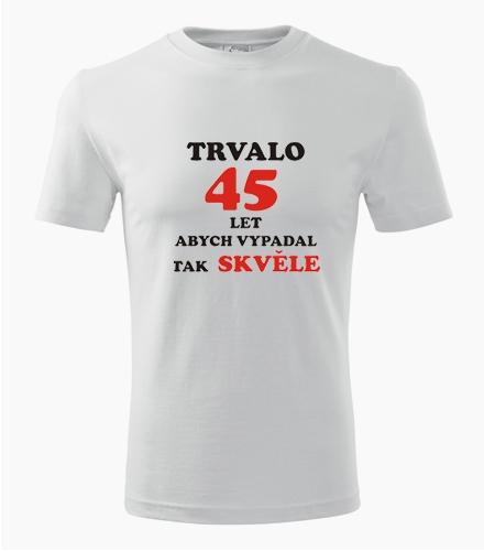 Tričko trvalo 45 let - Pánská narozeninová trička