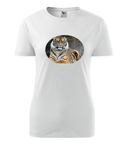 Dámské tričko s tygrem - Trička se zvířaty dámská