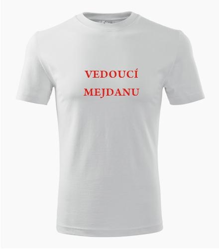 Tričko vedoucí mejdanu - Vtipná pánská trička