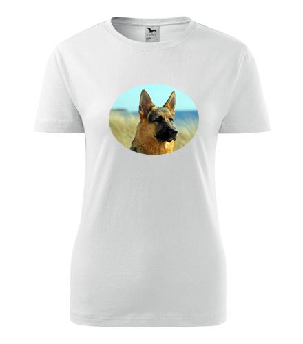 Dámské tričko s vlčákem - Dárky pro chovatelky psů