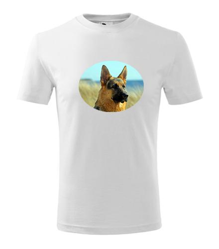 Dětské tričko s vlčákem - Trička se zvířaty dětská
