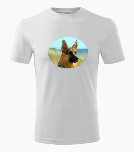 Tričko s vlčákem - Trička se zvířaty pánská