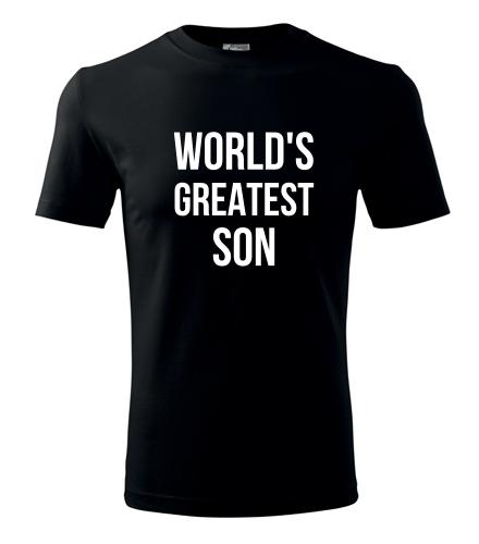 Tričko Worlds Greatest Son - Dárek pro syna