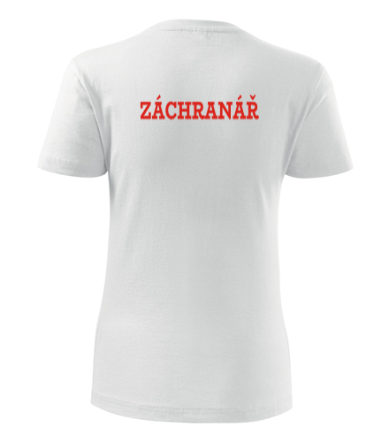 Dámské tričko Záchranář - Dárek pro záchranáře