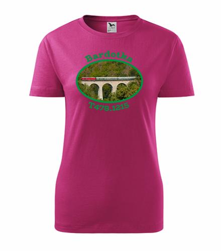 Dámské tričko s lokomotivou Bardotka T478.1215